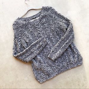 EXPRESS Marled Gray Cableknit Pullover Sweater